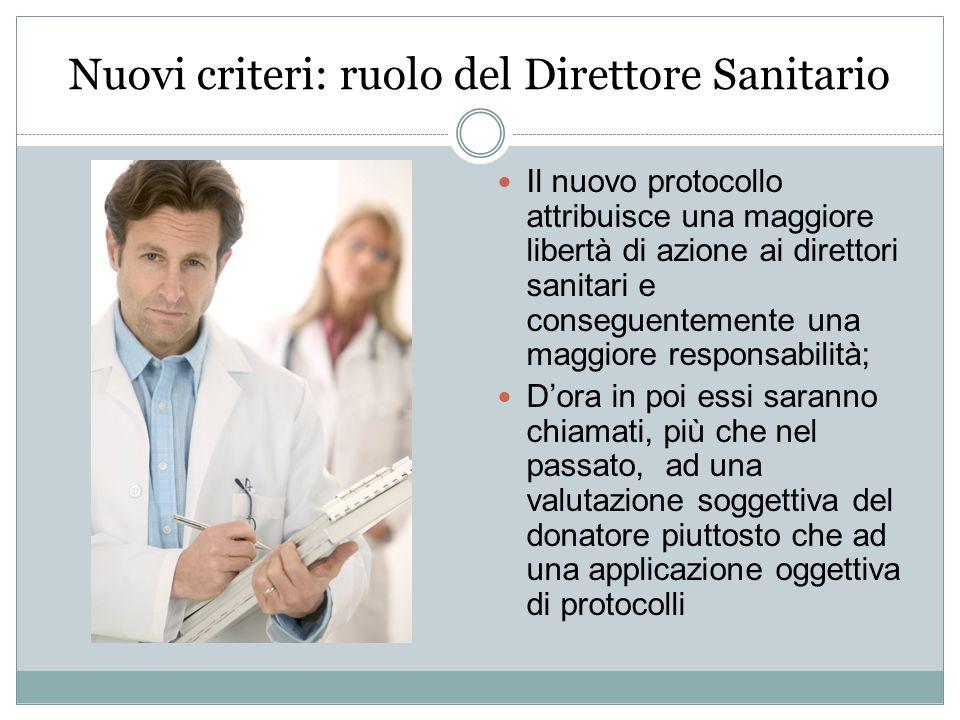 Nuovi criteri: ruolo del Direttore Sanitario