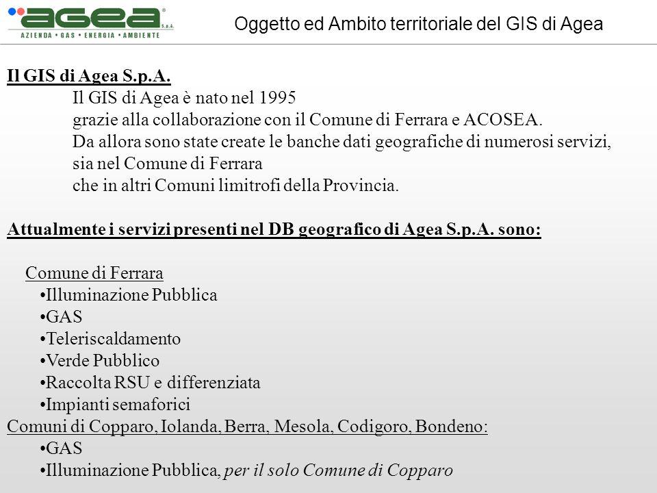 Oggetto ed Ambito territoriale del GIS di Agea