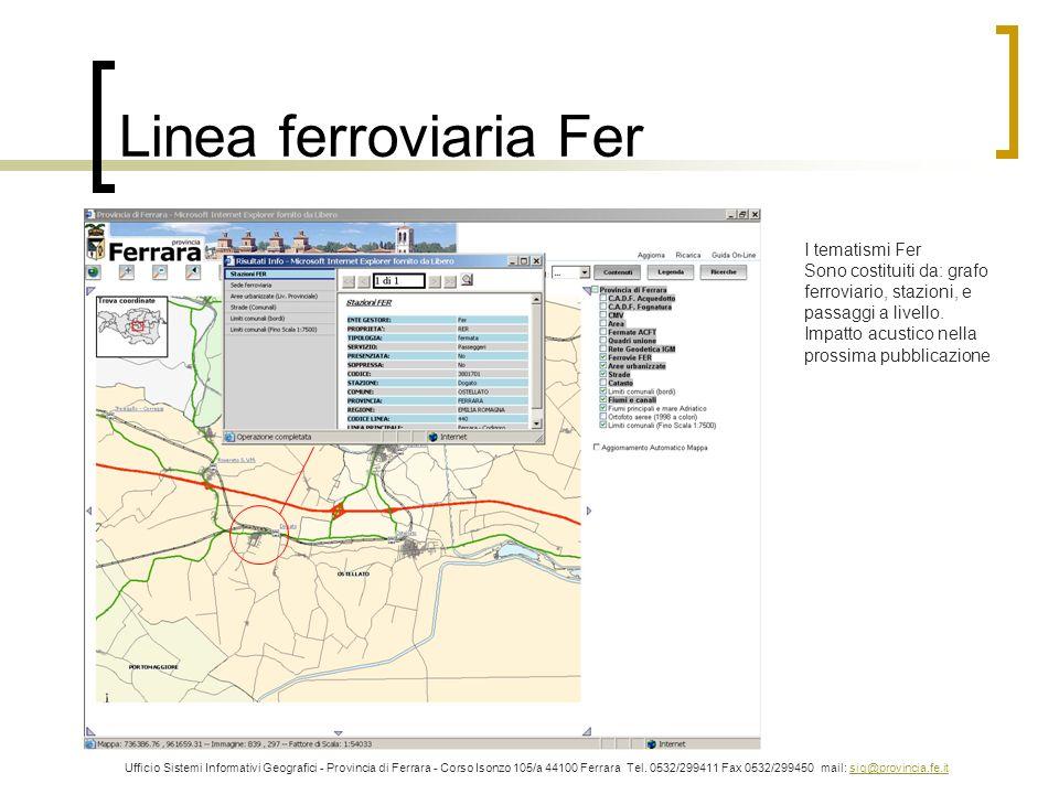 Linea ferroviaria Fer I tematismi Fer Sono costituiti da: grafo