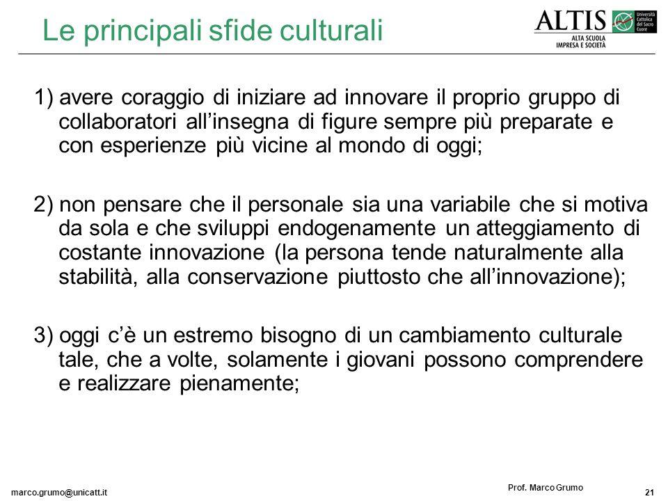 Le principali sfide culturali