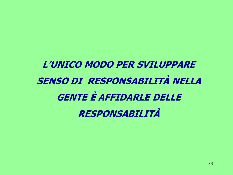L'UNICO MODO PER SVILUPPARE SENSO DI RESPONSABILITÀ NELLA