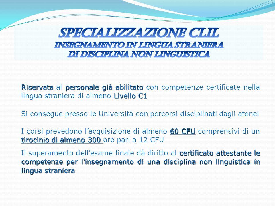 Specializzazione CLIL