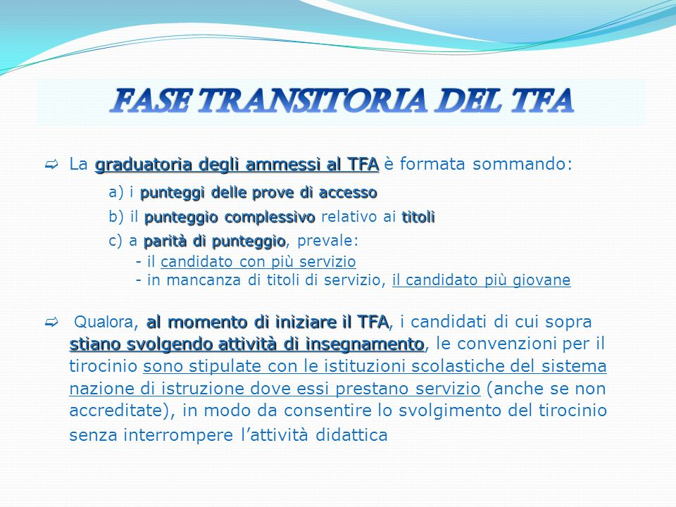 Fase transitoria del TFA