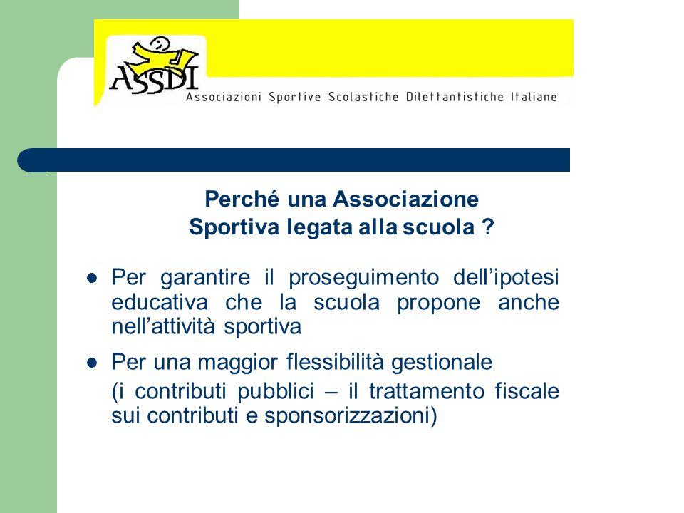 Perché una Associazione Sportiva legata alla scuola