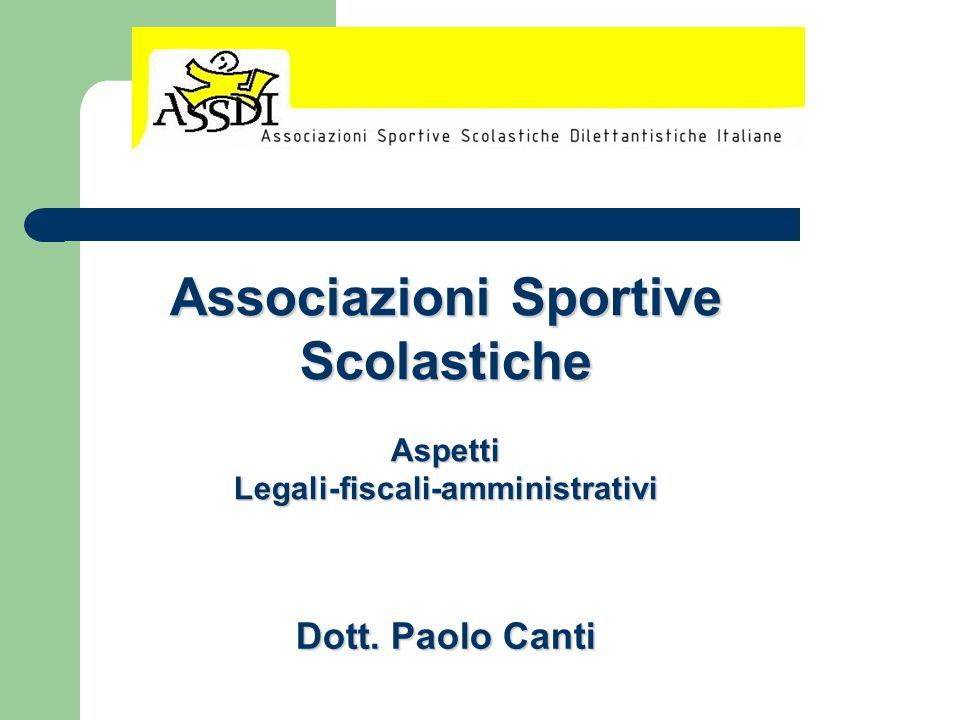 Associazioni Sportive Scolastiche Legali-fiscali-amministrativi
