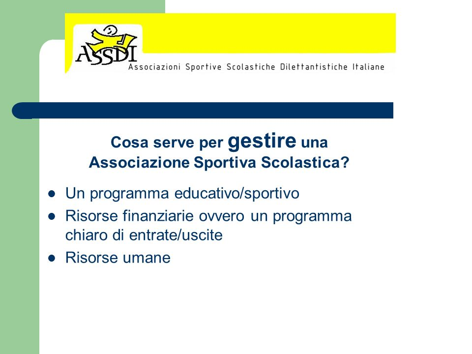 Cosa serve per gestire una Associazione Sportiva Scolastica