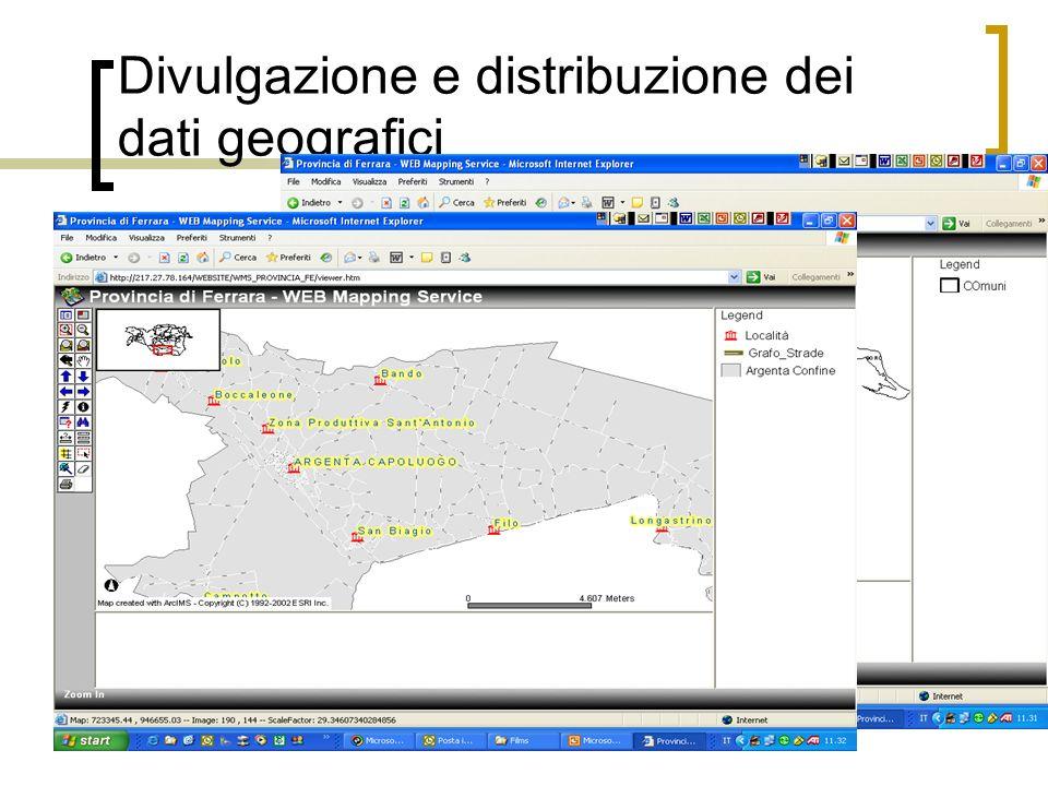 Divulgazione e distribuzione dei dati geografici