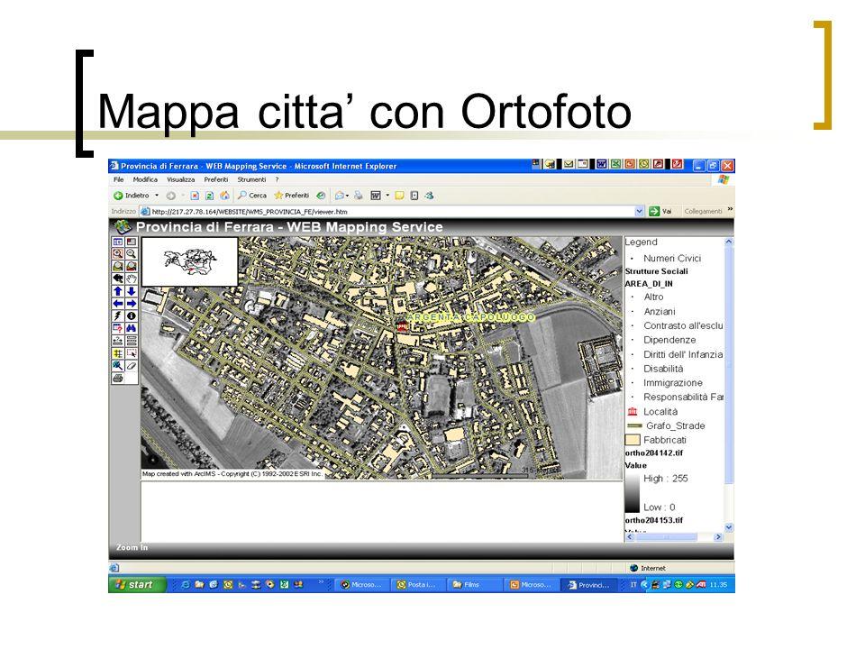 Mappa citta' con Ortofoto