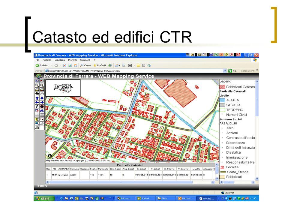 Catasto ed edifici CTR