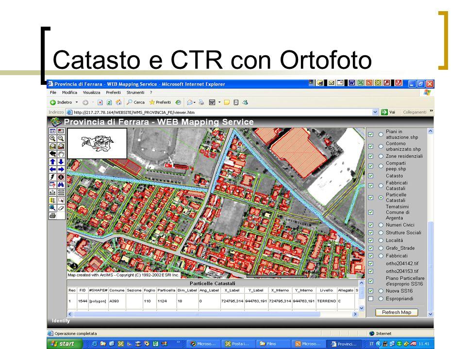 Catasto e CTR con Ortofoto