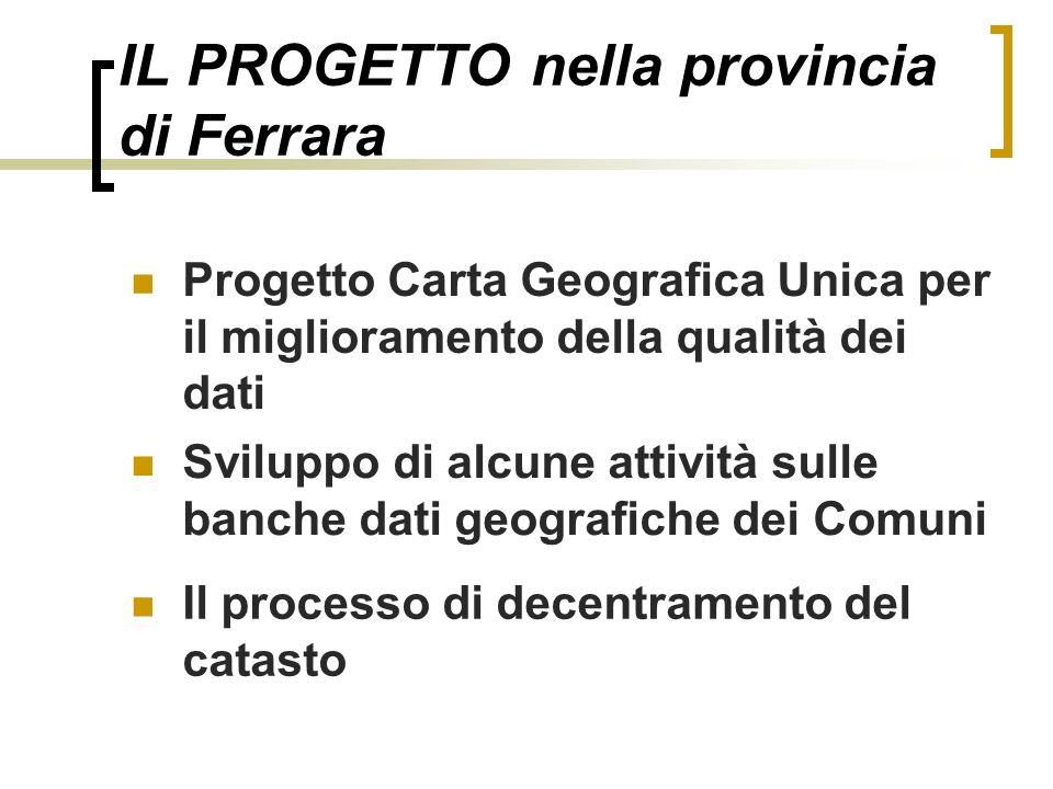 IL PROGETTO nella provincia di Ferrara