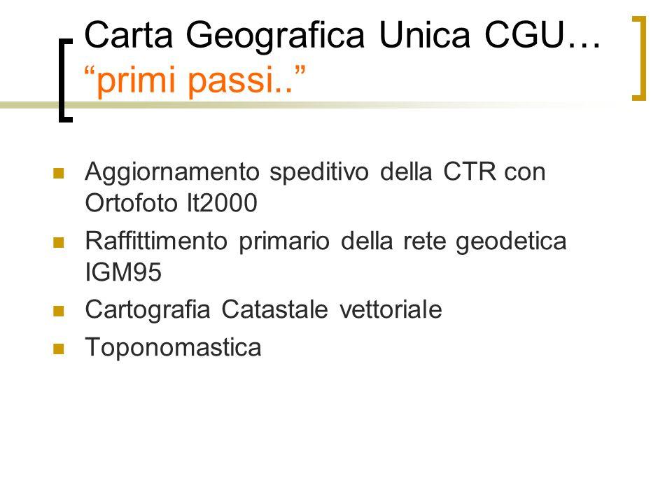 Carta Geografica Unica CGU… primi passi..
