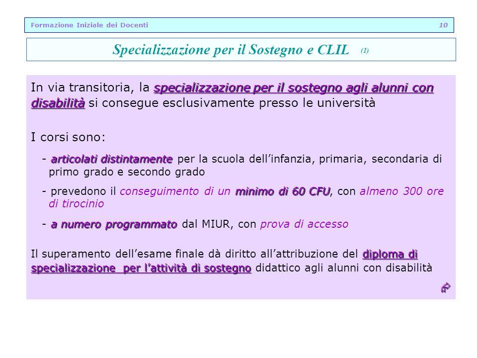 Specializzazione per il Sostegno e CLIL (1)
