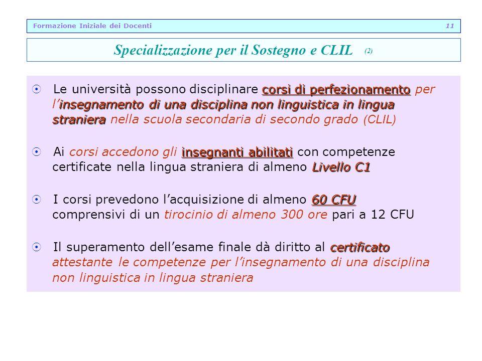 Specializzazione per il Sostegno e CLIL (2)
