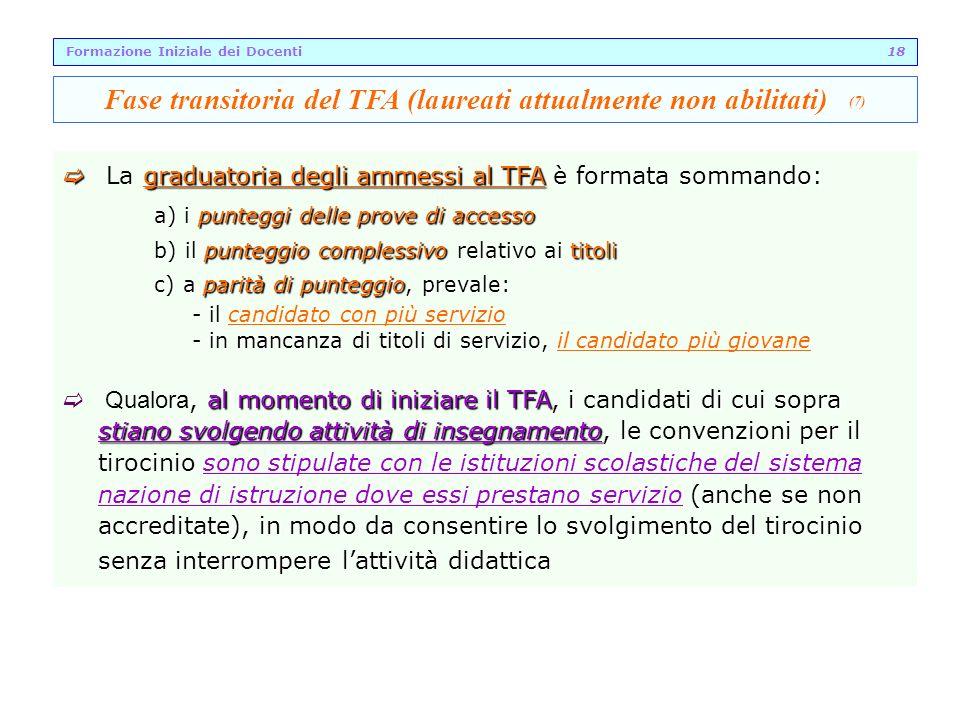Fase transitoria del TFA (laureati attualmente non abilitati) (7)