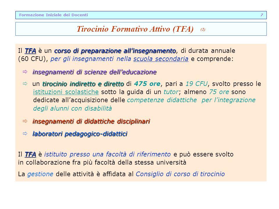 Formazione Iniziale dei Docenti 7 Tirocinio Formativo Attivo (TFA) (1)