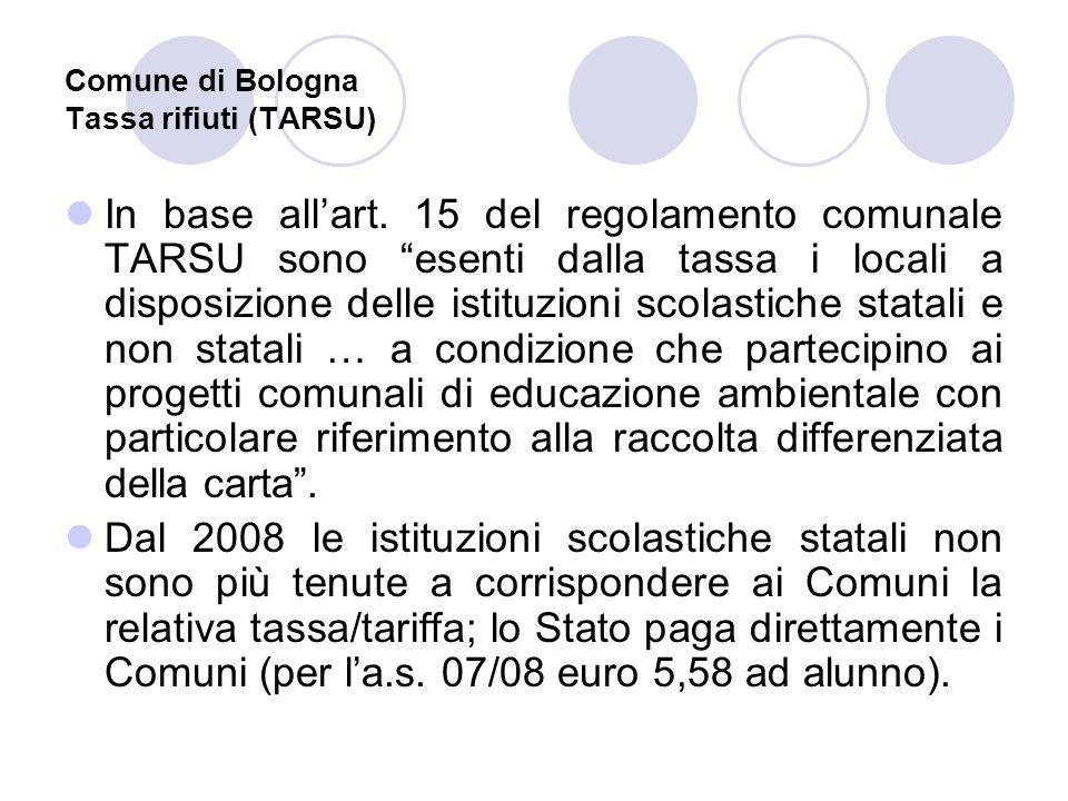 Comune di Bologna Tassa rifiuti (TARSU)