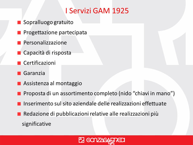 I Servizi GAM 1925 Sopralluogo gratuito Progettazione partecipata