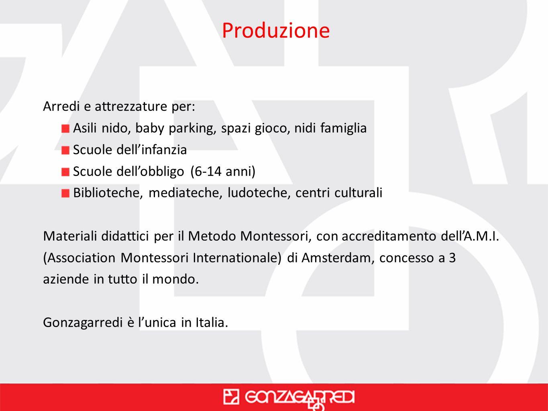 Produzione Arredi e attrezzature per: