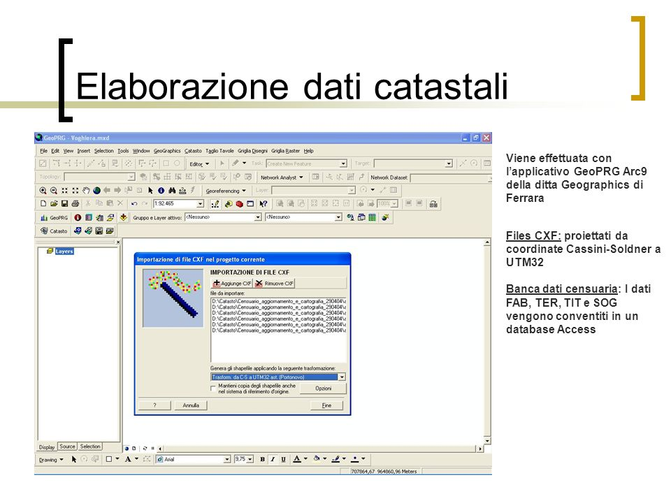 Elaborazione dati catastali
