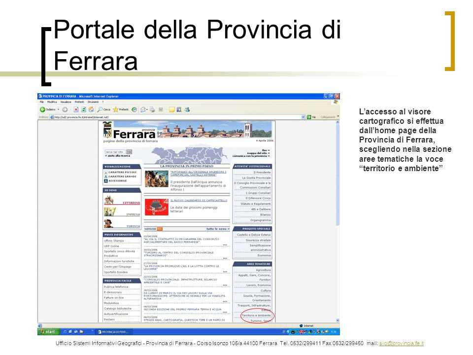 Portale della Provincia di Ferrara