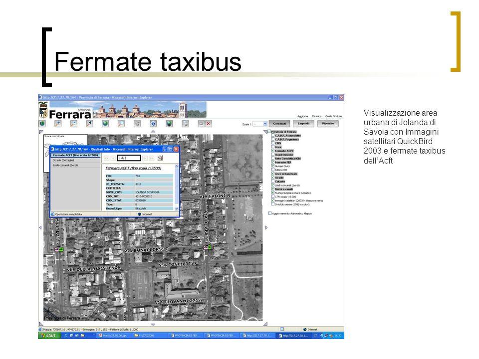 Fermate taxibus Visualizzazione area urbana di Jolanda di