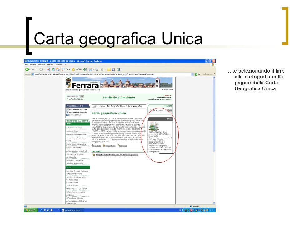 Carta geografica Unica