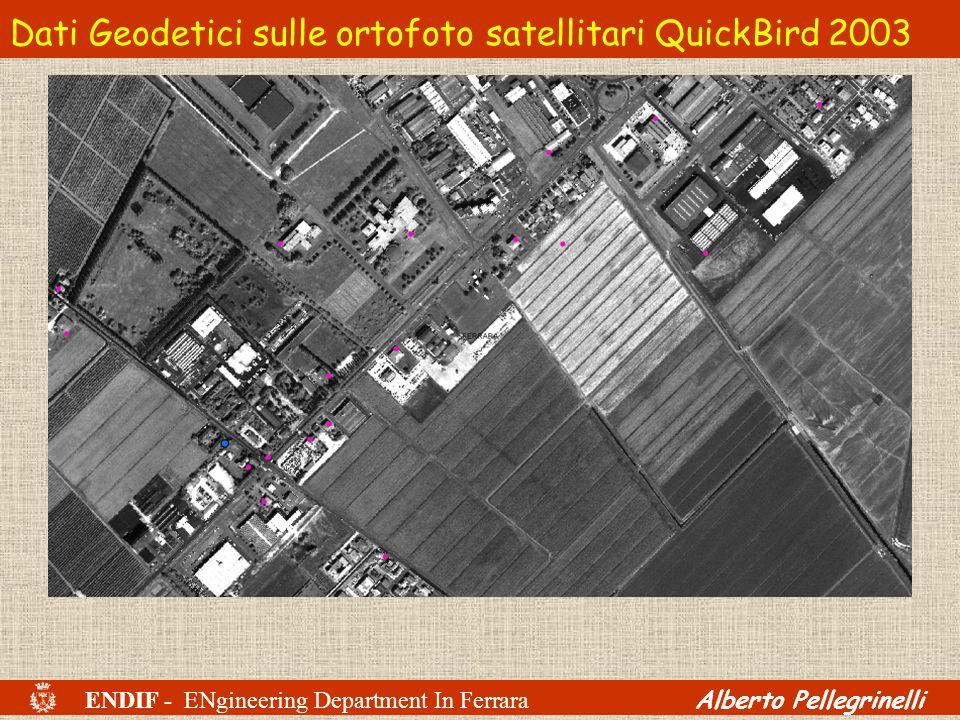 Dati Geodetici sulle ortofoto satellitari QuickBird 2003