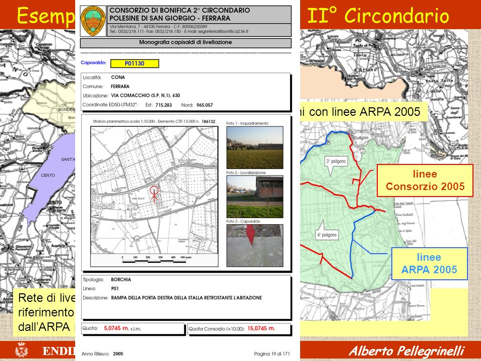 Esempio: livellazione Consorzio II° Circondario
