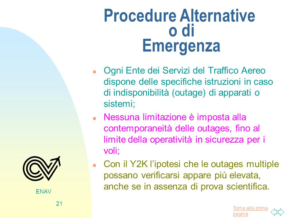Procedure Alternative o di Emergenza