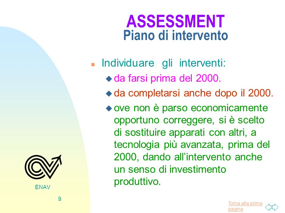 ASSESSMENT Piano di intervento