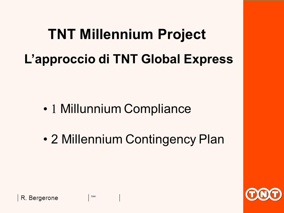 L'approccio di TNT Global Express