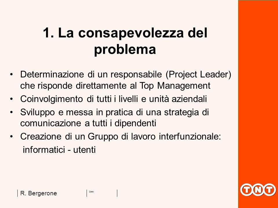 1. La consapevolezza del problema