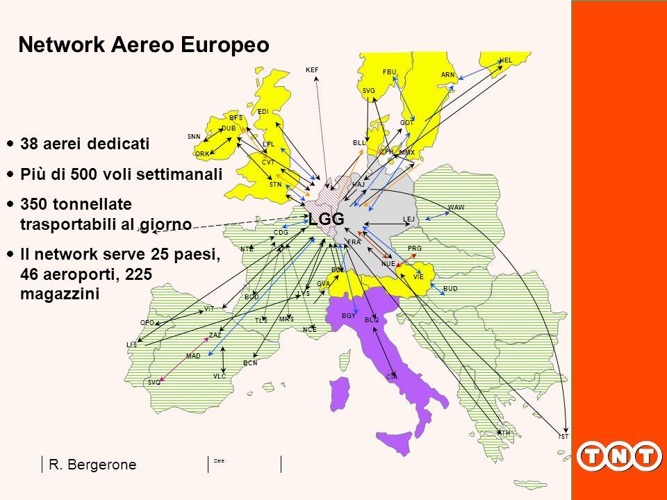 Network Aereo Europeo LGG 38 aerei dedicati