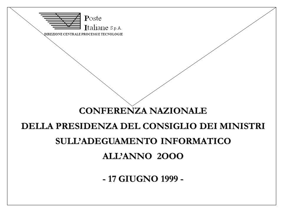 DELLA PRESIDENZA DEL CONSIGLIO DEI MINISTRI