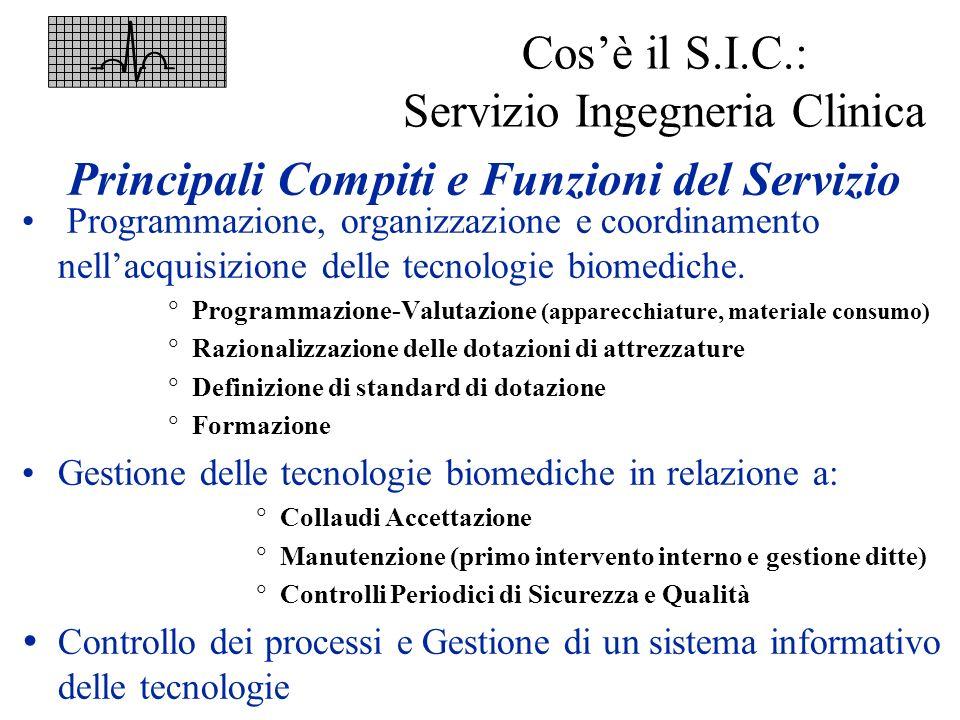 Cos'è il S.I.C.: Servizio Ingegneria Clinica