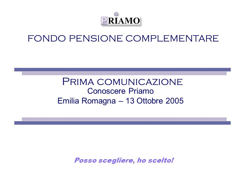 Conoscere Priamo Emilia Romagna – 13 Ottobre 2005