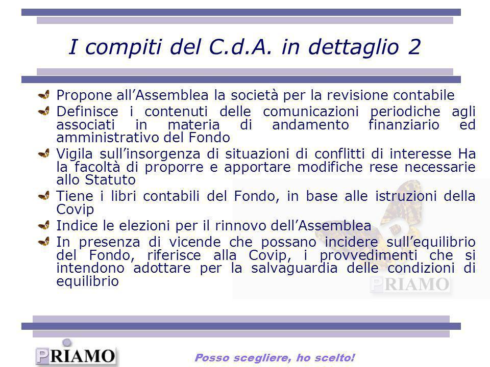 I compiti del C.d.A. in dettaglio 2