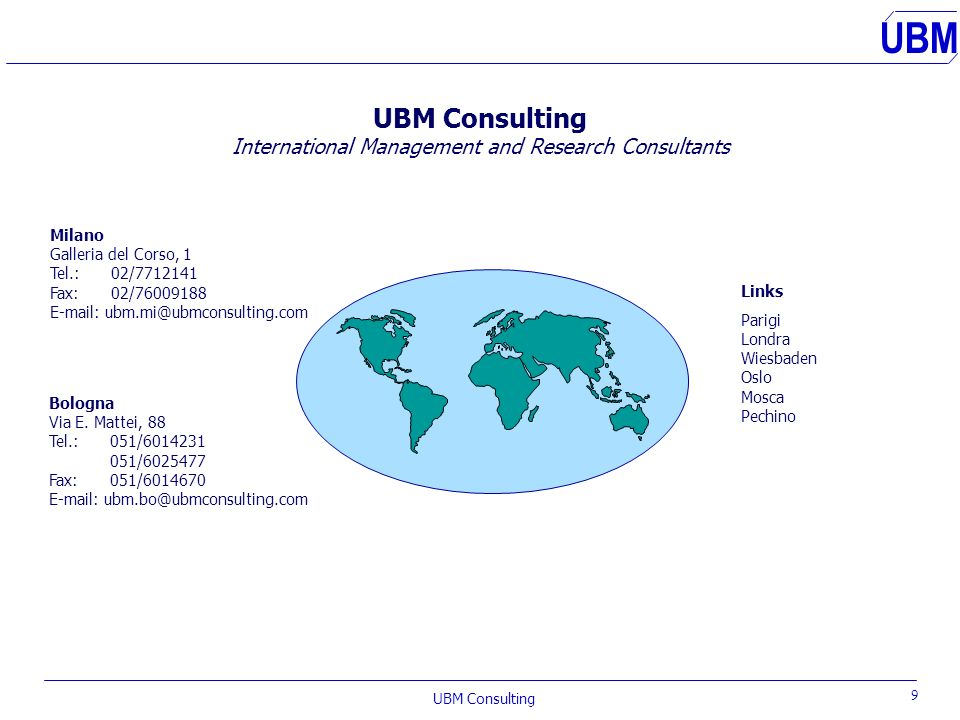 UBM Consulting International Management and Research Consultants