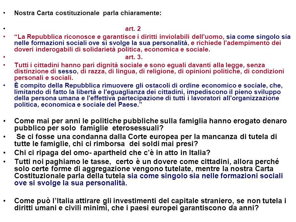 Chi ci ripaga del omo- apartheid che c'è in atto in Italia
