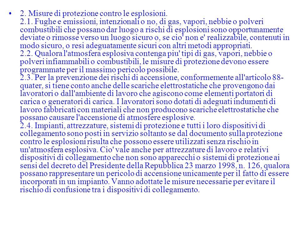 2. Misure di protezione contro le esplosioni. 2. 1