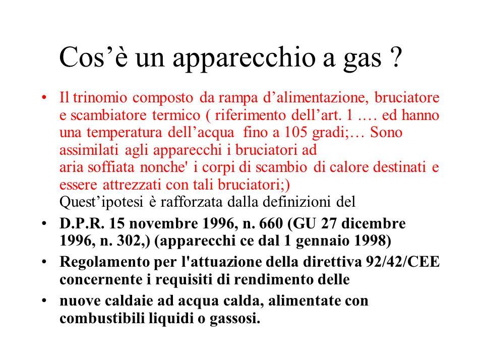 Cos'è un apparecchio a gas