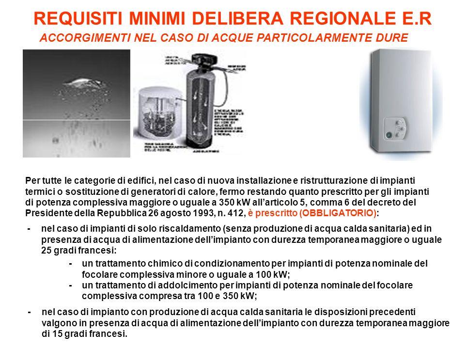REQUISITI MINIMI DELIBERA REGIONALE E.R