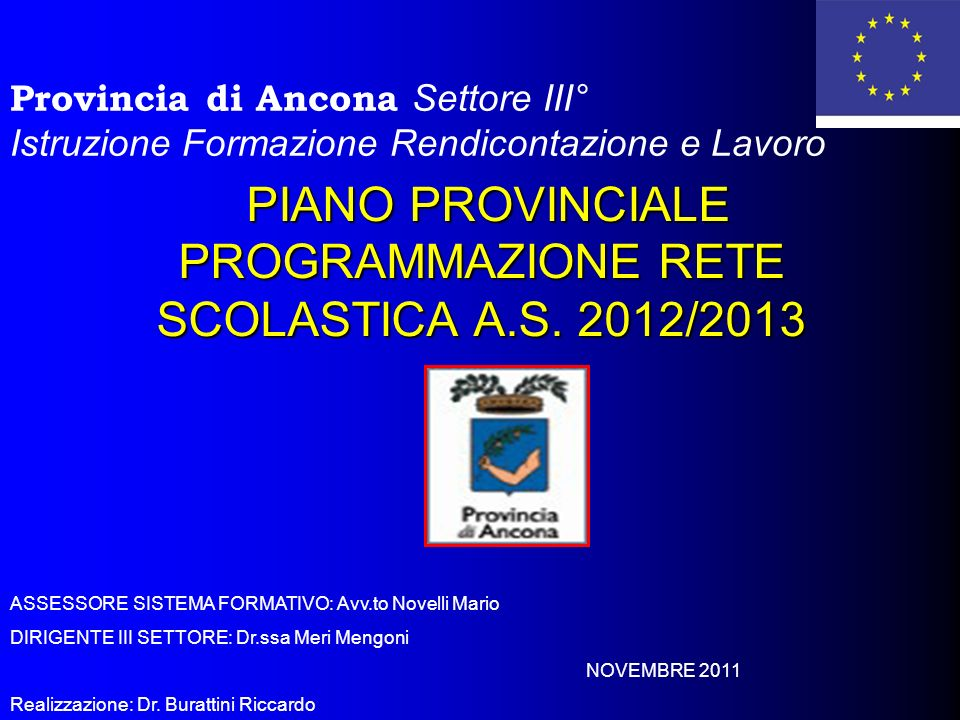 PIANO PROVINCIALE PROGRAMMAZIONE RETE SCOLASTICA A.S. 2012/2013