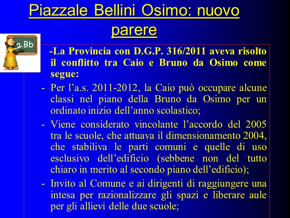 Piazzale Bellini Osimo: nuovo parere