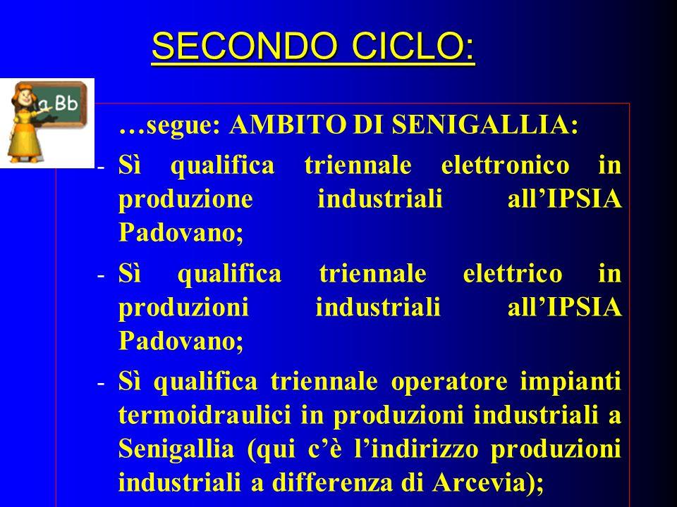 SECONDO CICLO: …segue: AMBITO DI SENIGALLIA:
