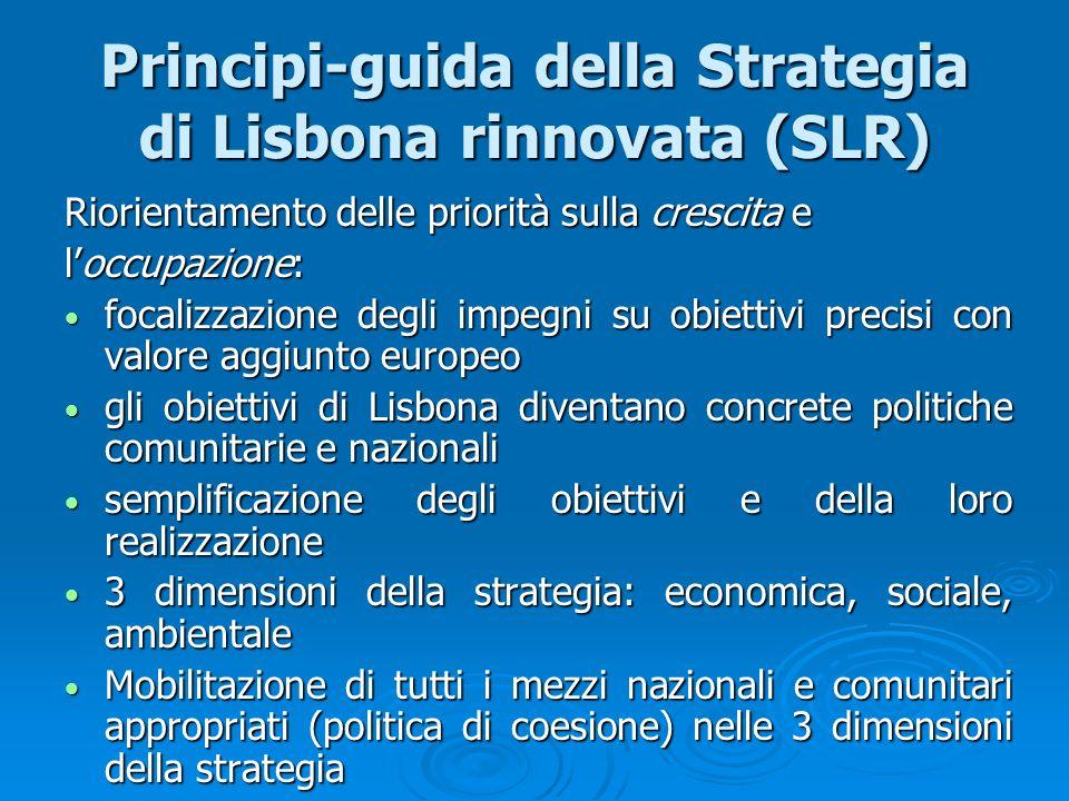 Principi-guida della Strategia di Lisbona rinnovata (SLR)