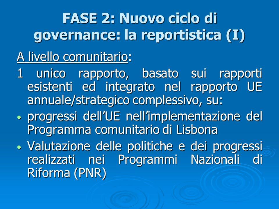 FASE 2: Nuovo ciclo di governance: la reportistica (I)
