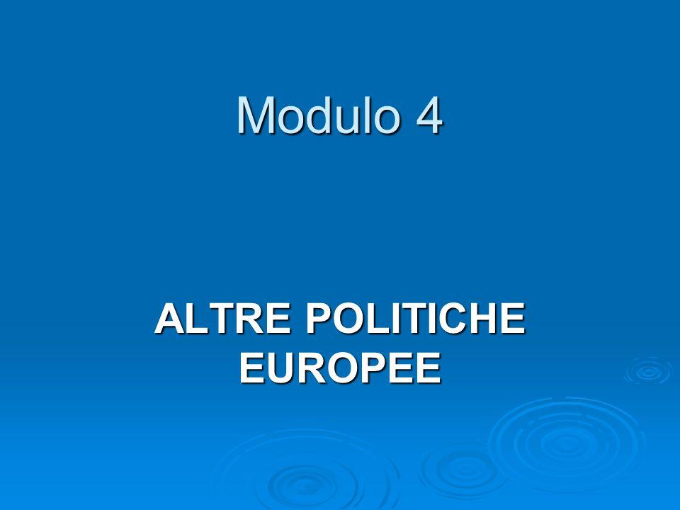 ALTRE POLITICHE EUROPEE