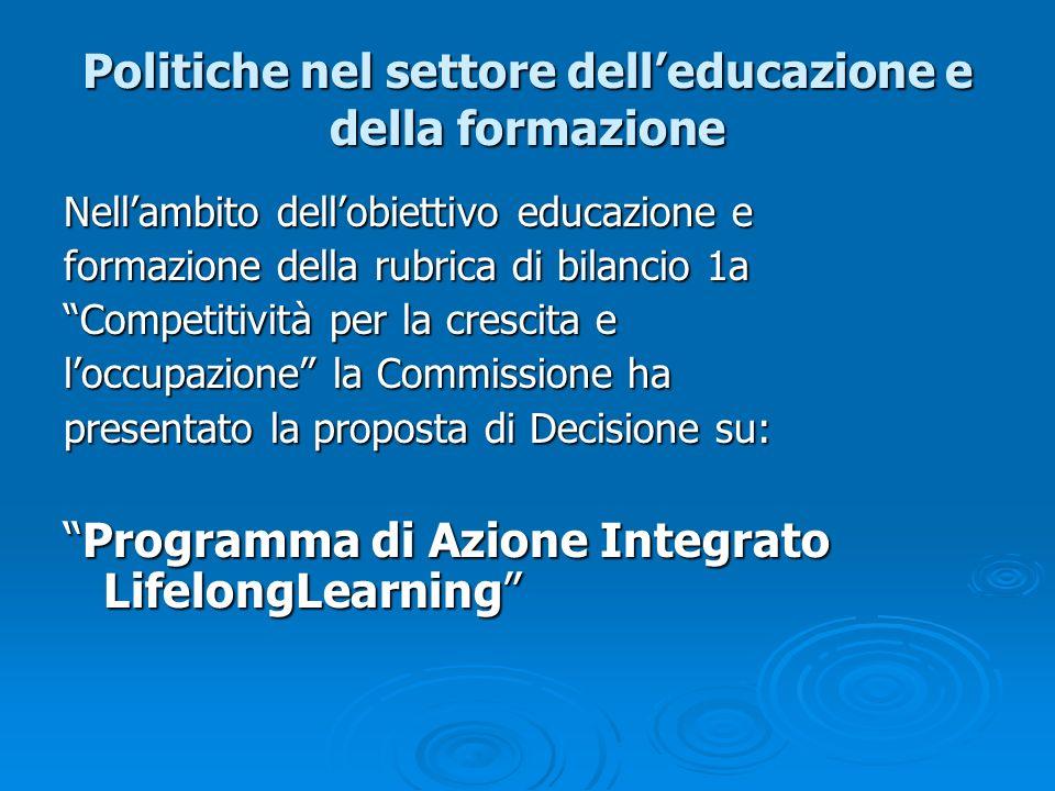 Politiche nel settore dell'educazione e della formazione